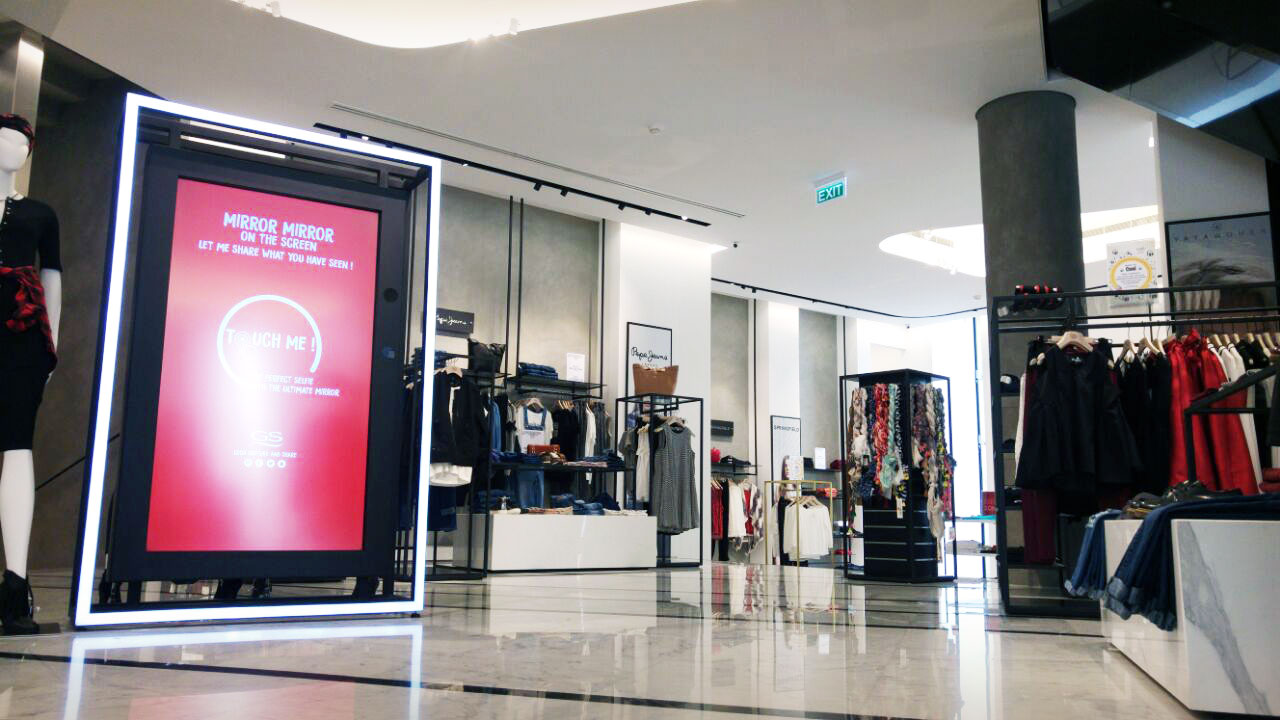 A picture of Engage installed at GS's flagship department store in Downtown Beirut