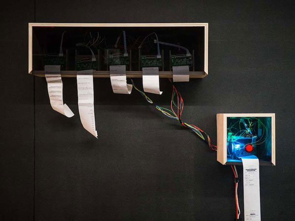 public sentiment captured and visualised through AI, speech recognition, and physical computing